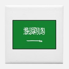 Saudi Arabian Flag Tile Coaster