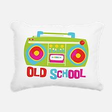 Old School Boom Box Rectangular Canvas Pillow