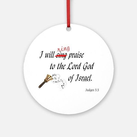 Ring Praise Ornament (Round)