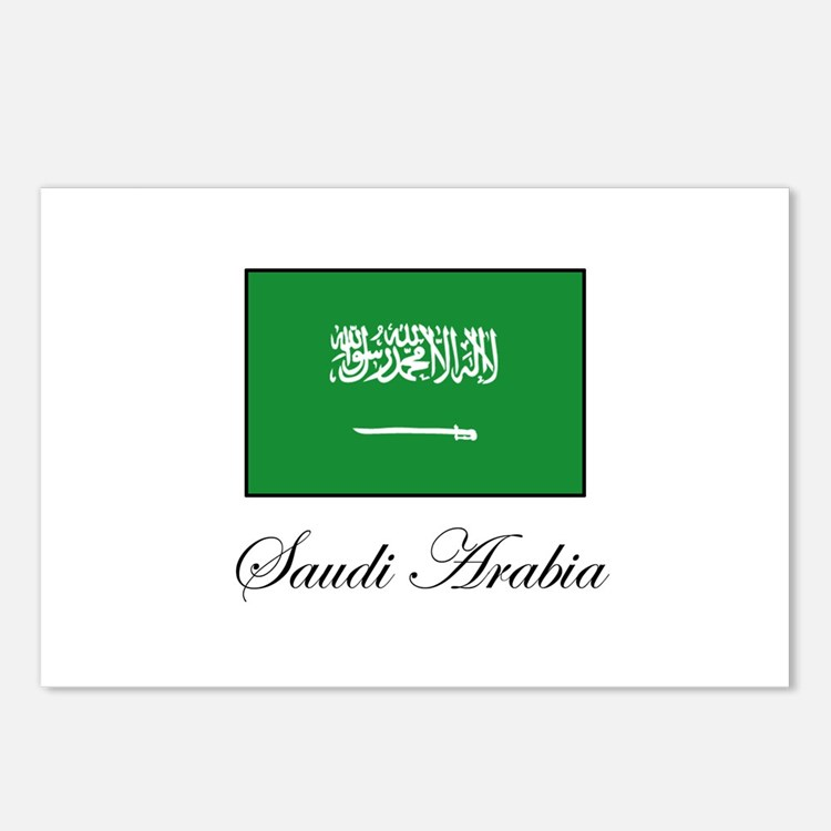 Saudi Arabia - Flag Postcards (Package of 8)