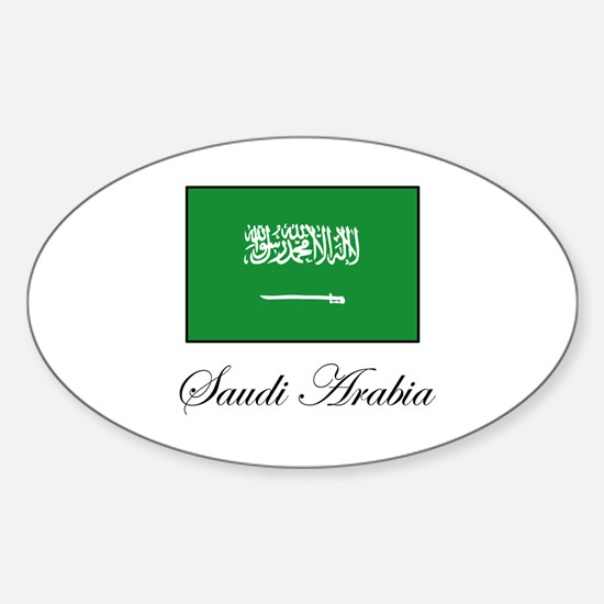 Saudi Arabia - Flag Oval Decal