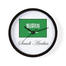 Saudi Arabia - Flag Wall Clock