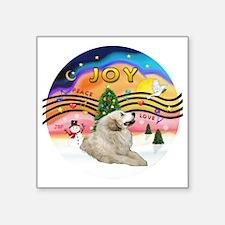 "XMusic2-GreatPyrenees Square Sticker 3"" x 3"""
