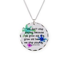 stop-playing-bag Necklace