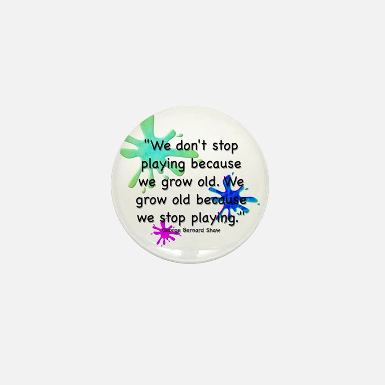 stop-playing-bag Mini Button