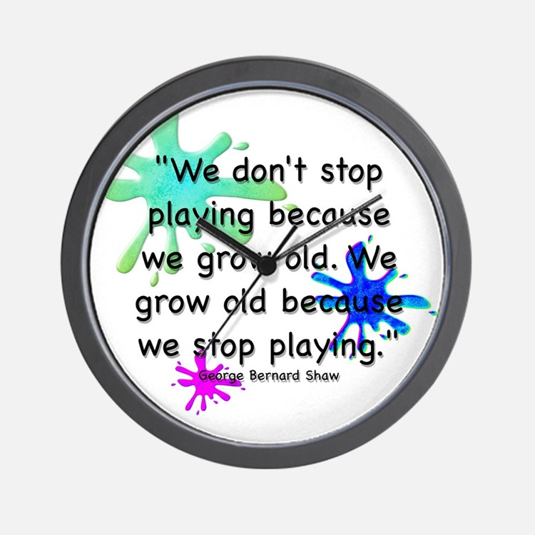 stop-playing-bag Wall Clock