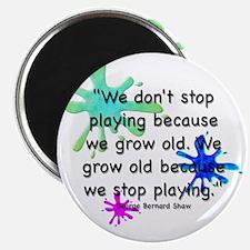 stop-playing-bag Magnet