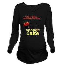 chocolate strawberry Long Sleeve Maternity T-Shirt