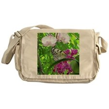 Paper Kite Butterfly and Orchids Messenger Bag