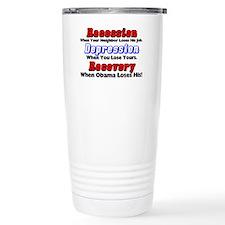 recession Ceramic Travel Mug