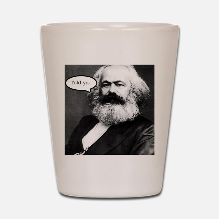 2-Karl Marx Shot Glass