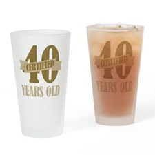 Certified40 Drinking Glass