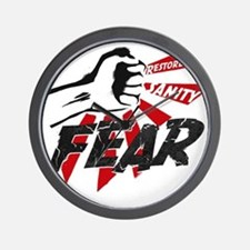 Rally-fear smash-1 Wall Clock