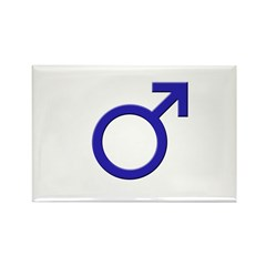 Male Symbol Rectangle Magnet