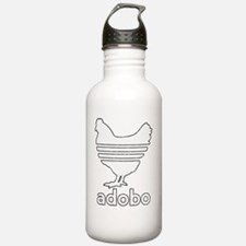 adobowhite-line-tex Water Bottle