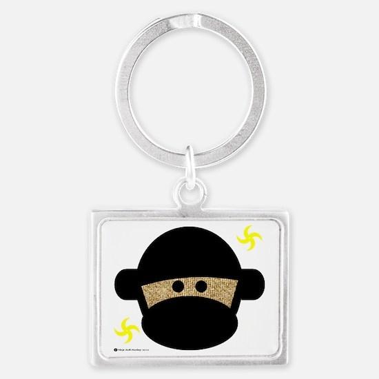 2-ninjamonkeyhead Landscape Keychain