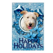 Blue_Snowflake_Wire_Fox_T Postcards (Package of 8)