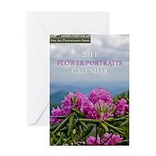 Vertical Calendar-Flower Portraits-C Greeting Card