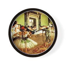 dance class calendar title Wall Clock