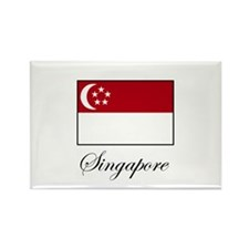 Singapore - Flag Rectangle Magnet