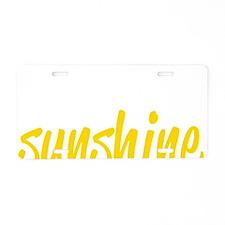 miss sunshine Aluminum License Plate