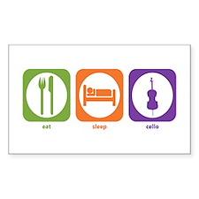 Eat Sleep Cello Rectangle Decal