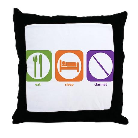 Eat Sleep Clarinet Throw Pillow