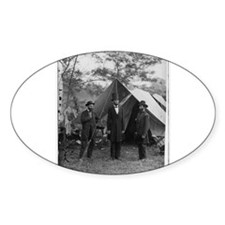 Lincoln by Matthew Brady Oval Decal