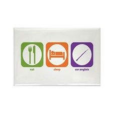 Eat Sleep Cor Anglais Rectangle Magnet