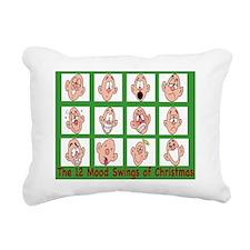 12moodswingsofchristmas Rectangular Canvas Pillow