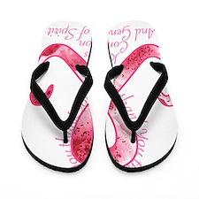 PinkRibbonThankYouTR Flip Flops