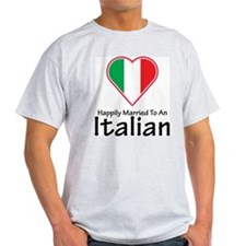 Happily Married Italian Ash Grey T-Shirt