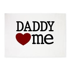 Daddy Heart Me 5'x7'Area Rug