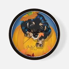 Dashund Halloween - Boo PosterP Wall Clock