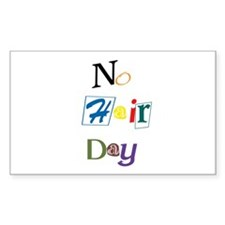 No Hair Day Rectangle Decal