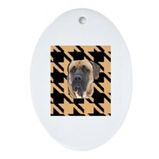 houndstooth tosa i Oval Ornament