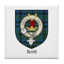 Keith Clan Crest Tartan Tile Coaster