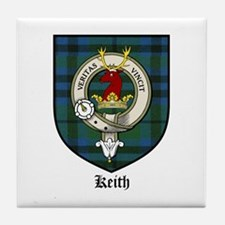 Keith Clan Crest Tartan Tile Coaster