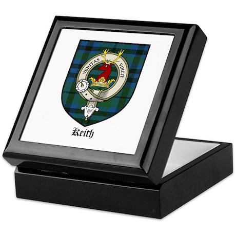 Keith Clan Crest Tartan Keepsake Box
