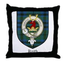 Keith Clan Crest Tartan Throw Pillow