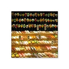 "2-16x20_print SUSHI WALL Square Sticker 3"" x 3"""