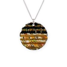 2-16x20_print SUSHI WALL Necklace Circle Charm