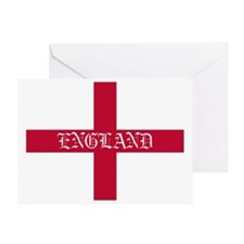 PC English Flag - England oldstyle Greeting Card