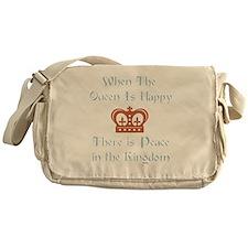 Queen is happy Messenger Bag