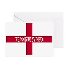 NC English Flag- England oldstyle Greeting Card