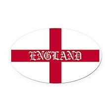 NC English Flag- England oldstyle Oval Car Magnet