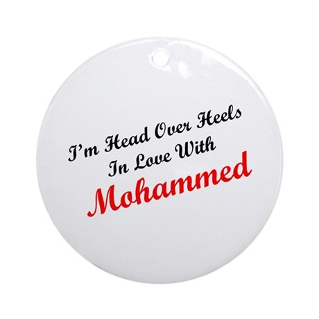 In Love with Mohammed Ornament (Round)