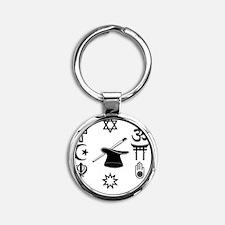 multifaith1300 Round Keychain
