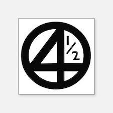 """3-4halflogo Square Sticker 3"""" x 3"""""""