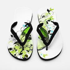 live green Flip Flops